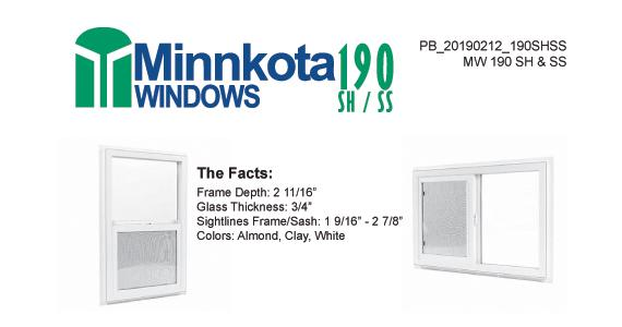 190 Single Hung & Single Slider by Minnkota Windows