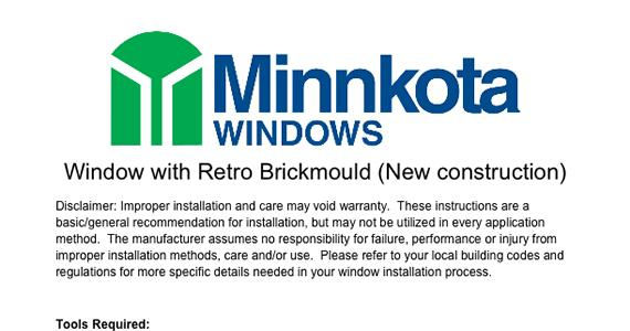 Installation Instructions - Brickmould