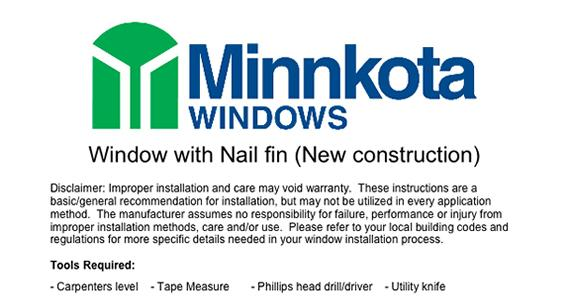 Installation Instructions - New Construction
